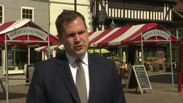 nottinghamshire newark ext robert jenrick mp interview sot s been talk the trade off if you will closing pubs and restaurants in order to open... - {{relatedsearchurl(carousel.phrase)}} stock-videos und b-roll-filmmaterial