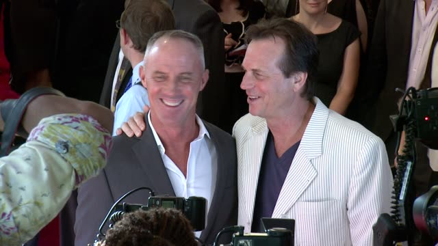 "robert john burke and bill paxton at ""2 guns"" new york premiere on june 29, 2013 at the sva theater, new york, new york - bill paxton stock videos & royalty-free footage"