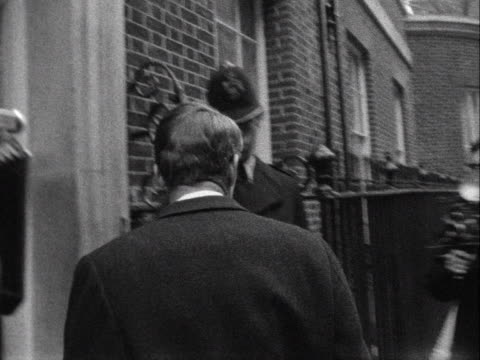 robert kennedy arrives at number 10 downing street - robert kennedy attorney general stock videos & royalty-free footage
