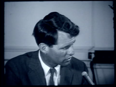 robert kennedy gives interview on effectiveness og mcclellan committee and jack kennedy's 1960 democratic nomination robert kennedy gives interview... - 1959 stock videos & royalty-free footage