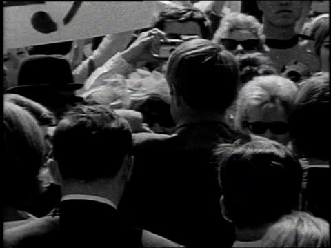 robert kennedy shaking hands at campaign stops / united states - 1968 stock videos & royalty-free footage