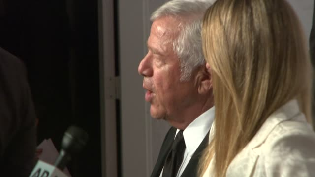 robert kraft at elton john aids foundation's 12th annual an enduring vision benefit on in new york ny - kraft stock videos & royalty-free footage