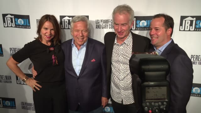 stockvideo's en b-roll-footage met robert kraft john mcenroe patty smyth at jon bon jovi soul foundation 10 year anniversary at the garage on october 6 2016 in new york city - kraft