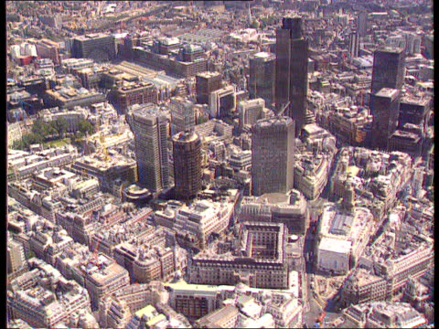 robert maxwell dead airv city area showing nat west tower tx itn - robert maxwell stock videos and b-roll footage