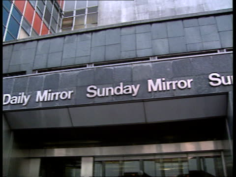 robert maxwell dead england lacms mirror group newspapers building itn london cr2657 - robert maxwell stock videos and b-roll footage