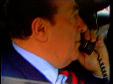 robert maxwell dead london cms maxwell on phone in car tx3487 itn - robert maxwell stock videos and b-roll footage