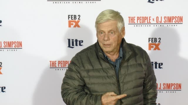 vídeos de stock e filmes b-roll de robert morse at fx's the people v oj simpson american crime story premiere at westwood village theatre on january 27 2016 in westwood california - westwood village