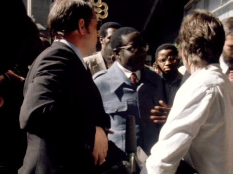 robert mugabe the leader of the patriotic front walks into a building during his visit to london for talks on the zimbabwe crisis 1979 - 1979 stock videos & royalty-free footage