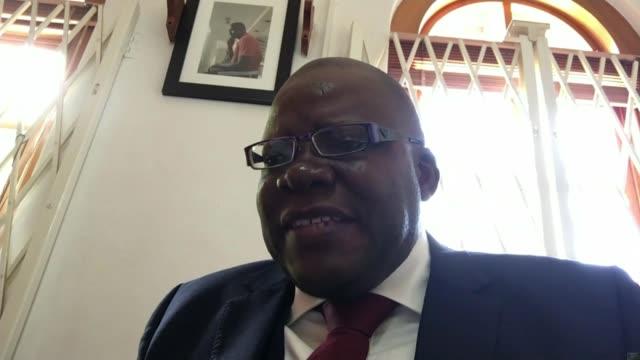 Robert Mugabe under house arrest after military take control ZIMBABWE INT Tendai Biti interview via internet SOT