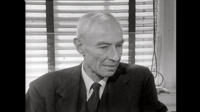 j robert oppenheimer explains how he cannot clearly recall the szilárd petition that circulated los alamos before the bomb was dropped and only... - adults only videos stock videos & royalty-free footage