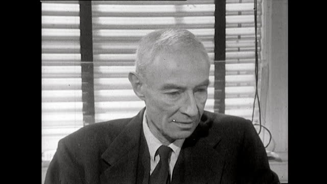 robert oppenheimer recalls a meeting of a scientific advisory panel at los alamos that discussed on the potential political consequences and outcomes... - new mexico stock videos & royalty-free footage
