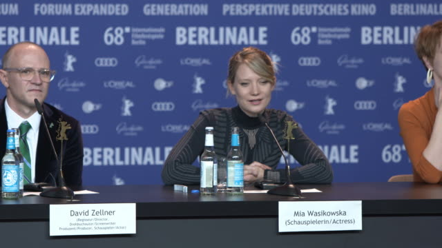 INTERVIEW Robert Pattinson and Mia Wasikowska talk about independent cinema 68th Berlin Film Festival 'Damsel' Press Conference at Grand Hyatt on...