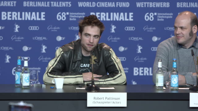 INTERVIEW Robert Pattinson and Mia Wasikowska talk about learning how to clog dance at 68th Berlin Film Festival 'Damsel' Press Conference at Grand...