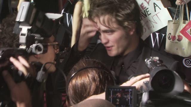 Robert Pattinson at the 'Twilight' premiere at Los Angeles CA