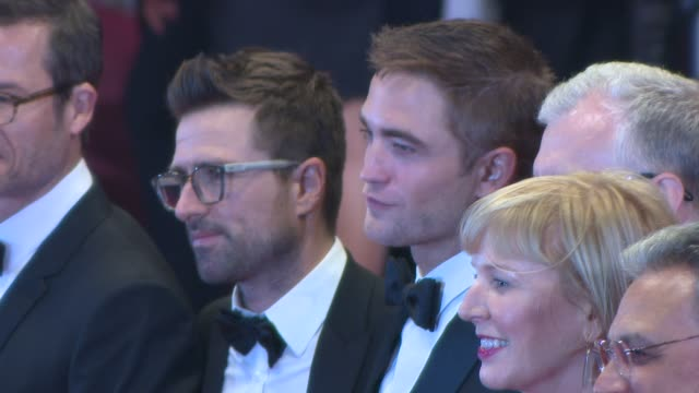 robert pattinson guy pierce david michod at 'the rover' red carpet at grand theatre lumiere on may 18 2014 in cannes france - grand theatre lumiere stock videos & royalty-free footage
