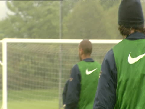Robert Pires training with the rest of the Arsenal team Arsenal FC training session London Colney 18 May 04