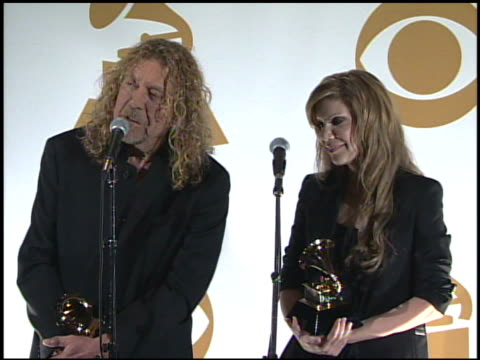 Robert Plant and Alison Krauss at the 51st Annual Grammy Awards Press Room at Los Angeles CA