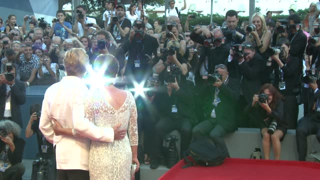 robert redford and sibylle szaggars at 'the company you keep' premiere 69th venice film festival in venice italy on 09/06/12 - sibylle szaggars stock-videos und b-roll-filmmaterial