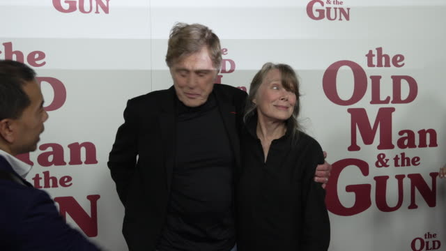 """robert redford and sissy spacek at """"the old man & the gun"""" new york premiere presented by fox searchight pictures at the paris theatre on september... - sissy spacek stock videos & royalty-free footage"""