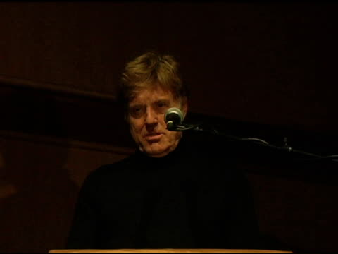 robert redford at the 2005 sundance film festival 'happy endings' opening night premiere at the eccles theatre in park city utah on january 20 2005 - sundance film festival stock videos & royalty-free footage