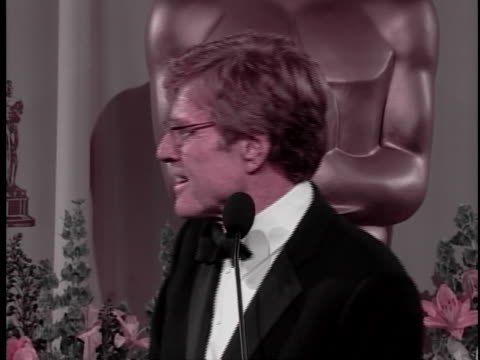 robert redford at the 74th academy awards at kodak theater, hollywood. - 74th annual academy awards stock videos & royalty-free footage