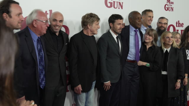 """robert redford, danny glover, sissy spacek and casey affleck, isiah whitlock, david lowery and crew at """"the old man & the gun"""" new york premiere... - sissy spacek stock videos & royalty-free footage"""