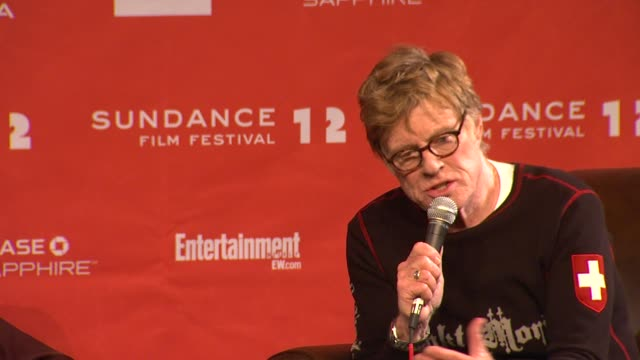 Robert Redford on reminding what the festival is about at Day 1 Press Conference of 2012 Sundance Film Festival on 1/19/12 in Park City Utah