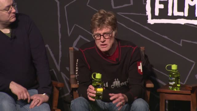 speech robert redford on sex in films throughout the years at opening day press conference 2013 sundance film festival speech robert redford on sex... - park city utah video stock e b–roll