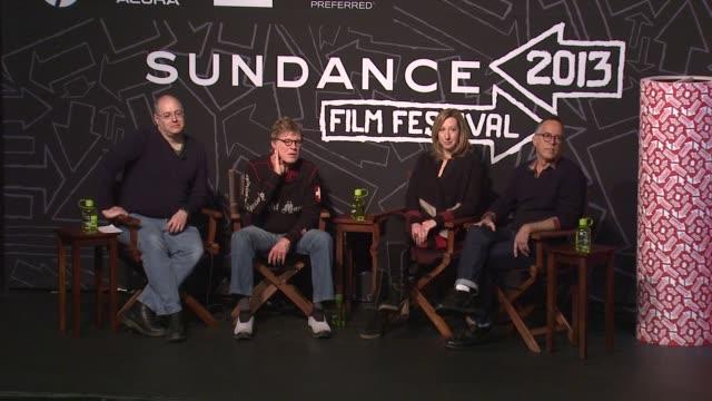 robert redford on the festival's benefit to utah at opening day press conference - 2013 sundance film festival speech - robert redford on the... - ロバート・レッドフォード点の映像素材/bロール