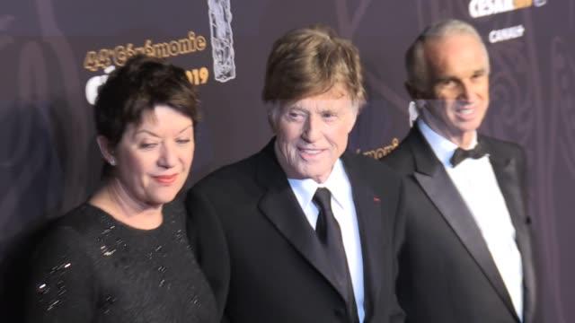 vídeos de stock e filmes b-roll de robert redford on the red carpet of the cesar film awards 2019 at salle pleyel in paris paris france 22nd february 2019 - robert redford