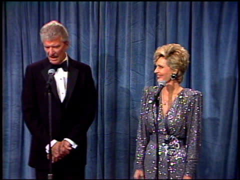 robert reed at the 1989 emmy awards backstage at the pasadena civic auditorium in pasadena california on september 17 1989 - pasadena civic auditorium stock videos and b-roll footage