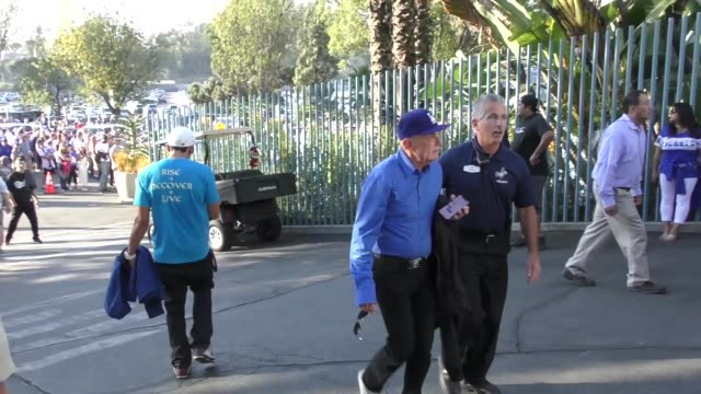 Robert Shapiro arrives at the Dodgers vs Red Sox World Series game 3 at Dodger Stadium in Los Angeles at Celebrity Sightings in Los Angeles on...