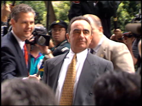 Robert Shapiro at the Simpson Trial Exteriors at Downtown in Los Angeles California on September 28 1995