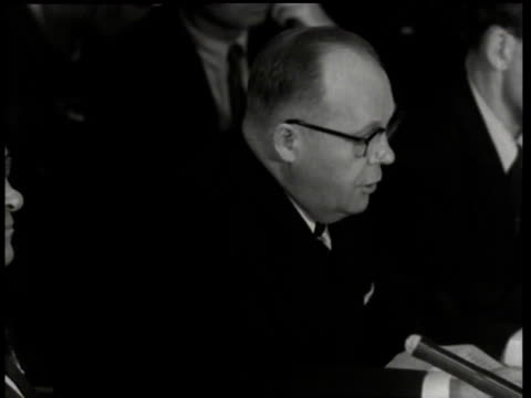 robert stevens speaking at the army-mccarthy hearings / washington, d.c., united states - 1954 stock videos & royalty-free footage