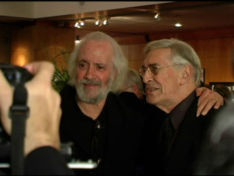 Robert Towne and Martin Landau at the AMPAS 30th Anniverary screening of 'Chinatown' at the Academy of Motion Picture Arts and Sciences in Beverly...