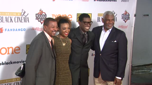 robert townsend and guests at bfca celebration of black cinema west hollywood, ca january 7, 2014 - ブロードキャスト映画批評家協会点の映像素材/bロール