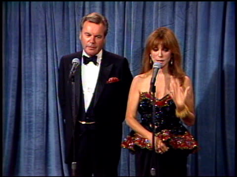 robert wagner at the 1989 emmy awards backstage at the pasadena civic auditorium in pasadena california on september 17 1989 - robert wagner stock videos & royalty-free footage