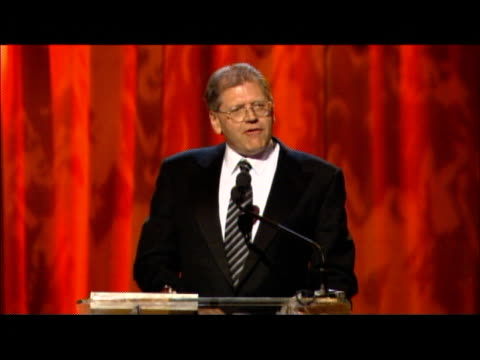 robert zemeckis accepts the ves award at the 3rd annual visual effects society awards at hollywood palladium in hollywood california on february 16... - robert zemeckis stock videos and b-roll footage