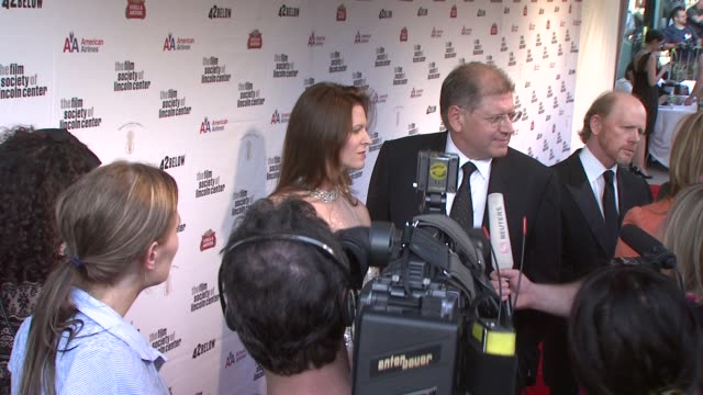 robert zemeckis and leslie zemeckis at the film society of lincoln center's 36th gala tribute honoring tom hanks at new york ny - robert zemeckis stock videos and b-roll footage