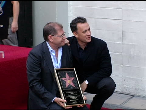 robert zemeckis and tom hanks at the dedication of robert zemeckis' star on the hollywood walk of fame at hollywood boulevard in hollywood california... - robert zemeckis stock videos and b-roll footage