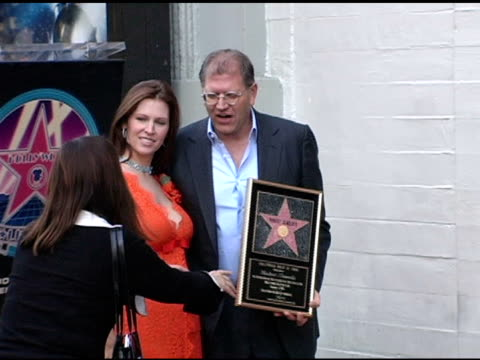 robert zemeckis and wife leslie harter zemeckis at the dedication of robert zemeckis' star on the hollywood walk of fame at hollywood boulevard in... - robert zemeckis stock videos and b-roll footage