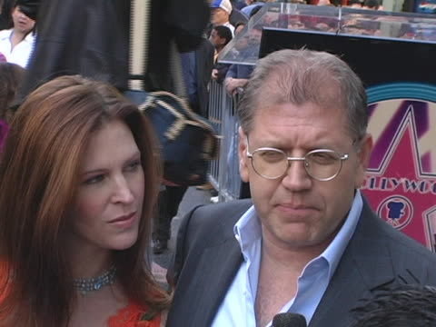 robert zemeckis and wife leslie harter zemeckis at the robert zemeckis honored with a star on the hollywood walk of fame at hollywood boulevard in... - robert zemeckis stock videos and b-roll footage