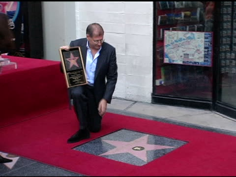 robert zemeckis at the dedication of robert zemeckis' star on the hollywood walk of fame at hollywood boulevard in hollywood california on november 5... - robert zemeckis stock videos and b-roll footage