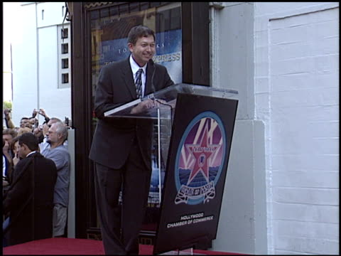 robert zemeckis at the dediction of robert zemeckis' walk of fame star at the hollywood walk of fame in hollywood california on november 5 2004 - robert zemeckis stock videos and b-roll footage