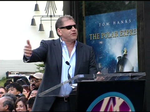 robert zemeckis expresses his thanks at the dedication of robert zemeckis' star on the hollywood walk of fame at hollywood boulevard in hollywood... - robert zemeckis stock videos and b-roll footage