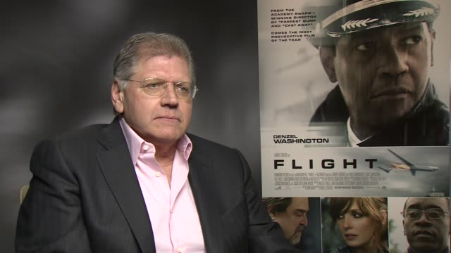 interview robert zemeckis on movie piracy at the flight junket in london on 17th january 2013 - robert zemeckis stock videos and b-roll footage