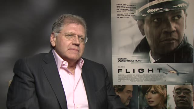 interview robert zemeckis on soundtracks being an important part of his films at the flight junket in london on 17th january 2013 - robert zemeckis stock videos and b-roll footage