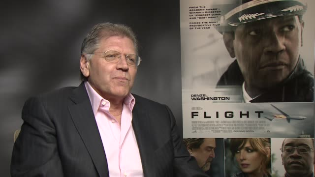 interview robert zemeckis on the placement of tony scotts movie props at the flight junket in london on 17th january 2013 - robert zemeckis stock videos and b-roll footage