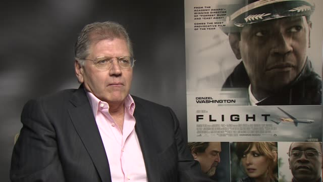 interview robert zemeckis on waiting to hear the anouncement at award shows at the flight junket in london on 17th january 2013 - robert zemeckis stock videos and b-roll footage