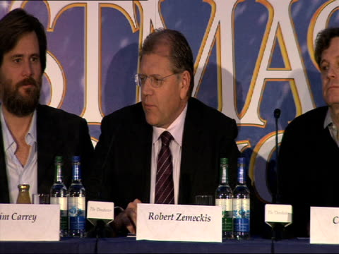 robert zemeckis on what in the story attracted him to remaking it and the benefits of the digital technology we now have at the a christmas carol... - robert zemeckis stock videos and b-roll footage
